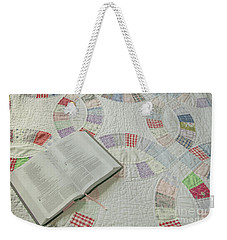 Bible On Quilt Weekender Tote Bag