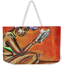 Bible Reading Weekender Tote Bag