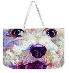 Bichon Frise Face Weekender Tote Bag by Robert Phelps