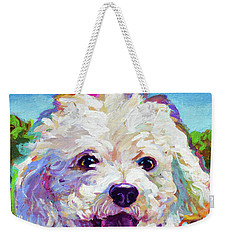 Bichon Frise Weekender Tote Bag by Robert Phelps