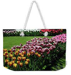 Multicolor Tulips Weekender Tote Bag by Ana Mireles