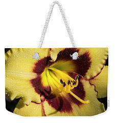Weekender Tote Bag featuring the photograph Bicolored Lily by Jean Noren