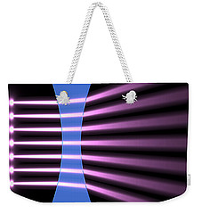 Weekender Tote Bag featuring the digital art Biconcave Lens 2 by Russell Kightley