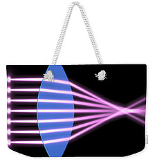 Weekender Tote Bag featuring the digital art Biconvex Lens 2 by Russell Kightley