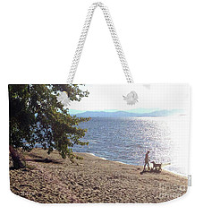 Bicycle Boy And Dog Weekender Tote Bag by Felipe Adan Lerma