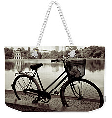 Bicycle By The Lake Weekender Tote Bag