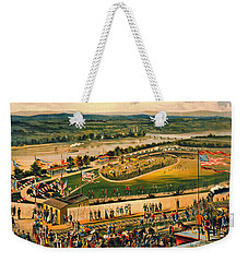 Weekender Tote Bag featuring the photograph Bicycle Camp 1883 by Padre Art