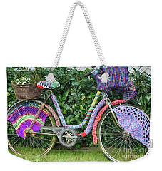 Bicycle In Knitted Sweater Weekender Tote Bag