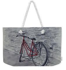 Bicycle In Red Weekender Tote Bag