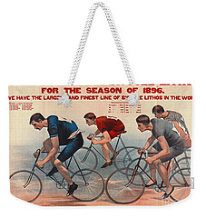 Weekender Tote Bag featuring the photograph Bicycle Lithos Ad 1896 by Padre Art
