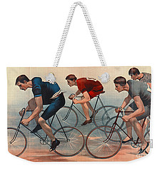 Weekender Tote Bag featuring the photograph Bicycle Lithos Ad 1896nt by Padre Art