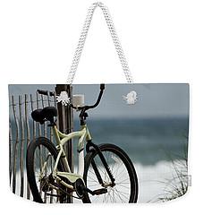 Bicycle On The Beach Weekender Tote Bag by Julie Niemela