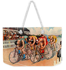 Bicycle Race 1895 Weekender Tote Bag