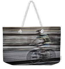 Bicycle Rider Abstract Weekender Tote Bag