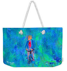 Bicycle Rider Weekender Tote Bag