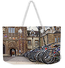 Bicycles At Trinity College Cambridge Weekender Tote Bag by Gill Billington