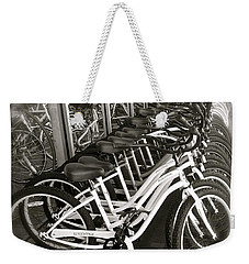 Bicycles In Belmont Shore Weekender Tote Bag