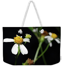 Weekender Tote Bag featuring the photograph Bidens Alba by Richard Rizzo