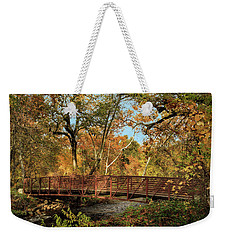 Weekender Tote Bag featuring the photograph Bidwell Park Bridge In Chico by James Eddy