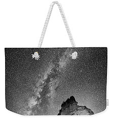 Weekender Tote Bag featuring the photograph Big And Bright In Black And White by Stephen Stookey