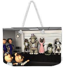Big Bad Wolf Lineup Weekender Tote Bag by Methune Hively