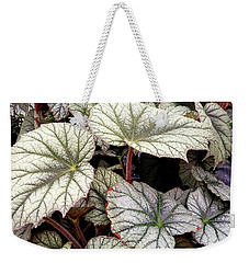 Big Begonia Leaves Weekender Tote Bag