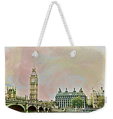Big Ben Against A Watercolor Sky Weekender Tote Bag