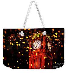 Big Ben Aglow Weekender Tote Bag