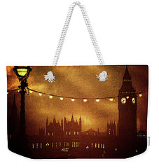 Weekender Tote Bag featuring the digital art Big Ben At Night by Fine Art By Andrew David