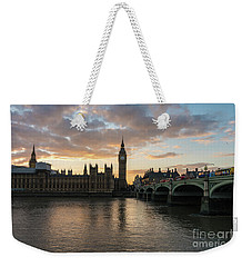 Big Ben London Sunset Weekender Tote Bag by Mike Reid