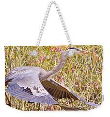 Big Bird In Flying Color Weekender Tote Bag by Judy Kay