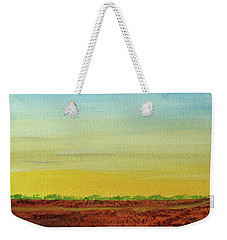Weekender Tote Bag featuring the painting Big Blue House by Jack G Brauer