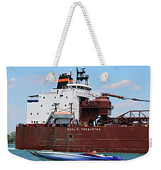 Big Boat Little Boat 3 Weekender Tote Bag by Mary Bedy