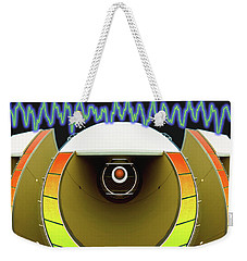 Weekender Tote Bag featuring the digital art Big Boom Box by Wendy J St Christopher