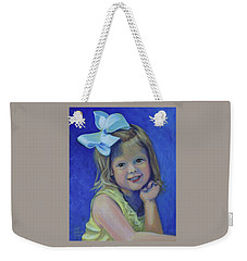 Big Bow Little Girl Weekender Tote Bag