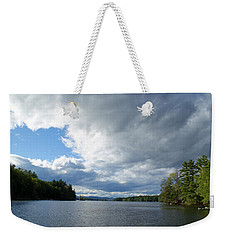Weekender Tote Bag featuring the photograph Big Brooding Sky by Lynda Lehmann