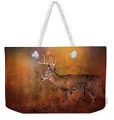 Big Buck In Autumn White Tailed Deer Art Weekender Tote Bag