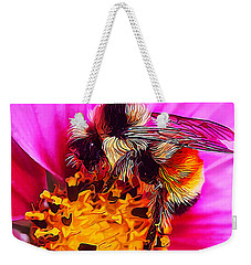 Big Bumble On Pink Weekender Tote Bag
