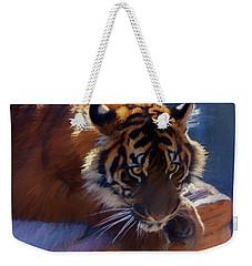 Big Cat In Chalk Weekender Tote Bag