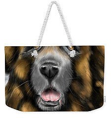 Weekender Tote Bag featuring the digital art Big Dog by Darren Cannell