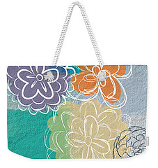 Big Flowers Weekender Tote Bag by Linda Woods