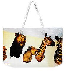 Big Game Africa - Zebras And Lions Weekender Tote Bag