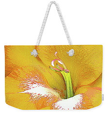 Big Glad In Yellow Weekender Tote Bag