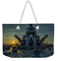 Big Guns At Sunset Weekender Tote Bag