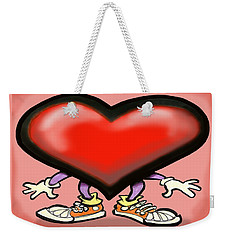 Big Heart Weekender Tote Bag by Kevin Middleton