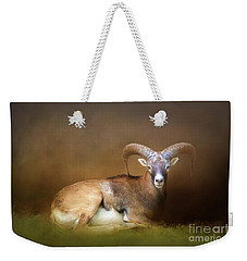 Big Horn Sheep Weekender Tote Bag by Marion Johnson