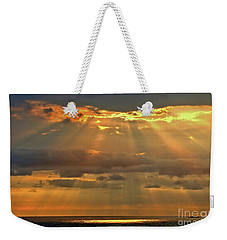 Weekender Tote Bag featuring the photograph Big Island Rays by DJ Florek