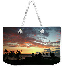 Weekender Tote Bag featuring the photograph Big Island Sunset #2 by Anthony Jones