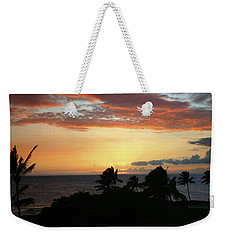 Weekender Tote Bag featuring the photograph Big Island Sunset by Anthony Jones
