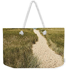 Weekender Tote Bag featuring the photograph Big Lake Beach Path by Michelle Calkins